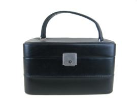Vintage beautycase zwart