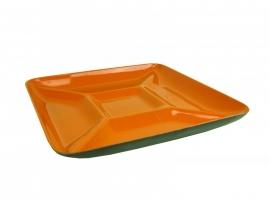 Retro snackschaal oranje