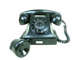 Bakelieten telefoon met extra oor