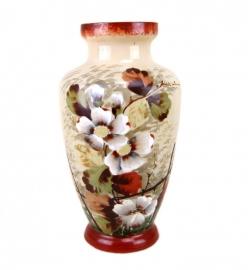 Opaline vaas met bloemmotief