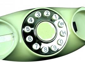 Ouderwetse ovalen telefoon