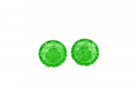 Mini schaaltjes groen kristal - set van 2