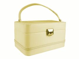 Vintage beautycase crèmewit