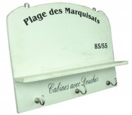 """Handdoekenrek """"Plage des Marquisats"""""""