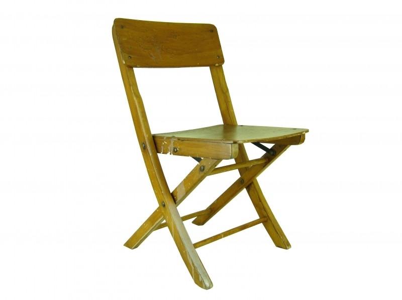 Ouderwetse kinderklapstoel