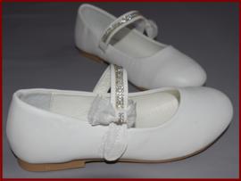 (Bruids)meisjes schoenen strik en strass. Maat 16  t/m 35 (362)