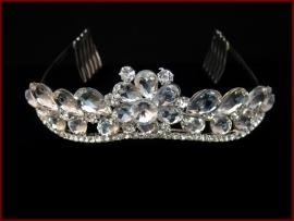 Tiara- Kroon met glas en Strass steentjes (629)