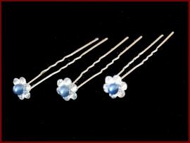 Haarpin bloem - Marine blauw (1401)