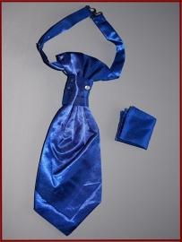 Plastron Helderblauw met pochet (533A)