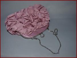 Bruidstasje / Avondtasje / Clutch Oud roze (726)