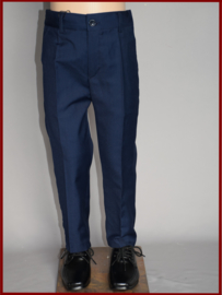 Nette broek, slim fit   Maat 80 t/m 164  Zwart of marine-blauw  (244)