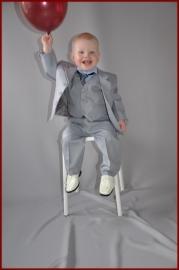 Bruidsjonker Kostuum Licht grijs 3-delig Milan Maat 80 t/m 164 (201)