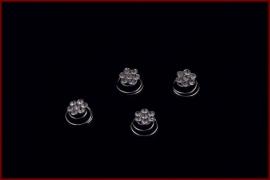 Curlie met strass steentjes  - Wit (435)