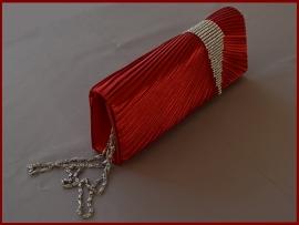 Bruidstasje / Avondtasje / Clutch rood strass (740)