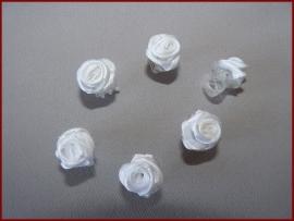 6 Haarklemmetjes met roosjes - Wit (459)