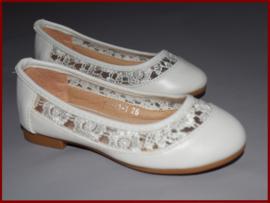 (Bruids)meisjes schoenen ivoor met kant Maat 25 t/m 36 (363)