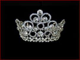 Kroon met strass en glas steentjes (627)