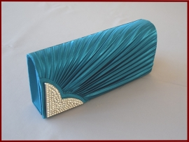 Bruidstasje / Avondtasje / Clutch  groen-blauw  (750)