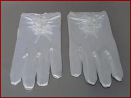 Handschoenen roosje - Wit (06)