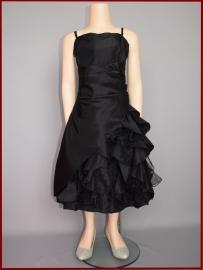 Feestjurk Maat 146-158  Donna zwart (A111)