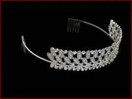 Tiara- Kroon met Strass steentjes (603)
