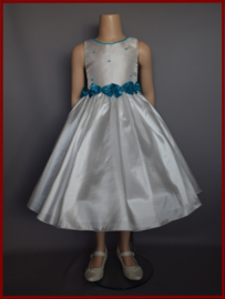 Bruidsmeisjes jurk Maat 86 t/m 152 Aqua (A120)
