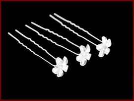 Haarpin bloem parelmoer (498)
