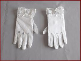 Handschoen van rekbaar kant ivoor (88)