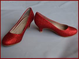Bruidsmeisjes schoenen rood glitter Maat 28 t/m 35 (355)