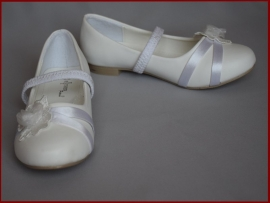 Bruidsmeisjes schoenen bloem. Maat 22 t/m 35 (339)
