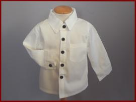 Baby-/peuter overhemd Ivoor (265)