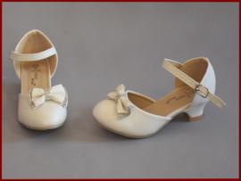Bruidsmeisjes schoenen Ivoor met strikje  Alléén nog maat 26  (354)