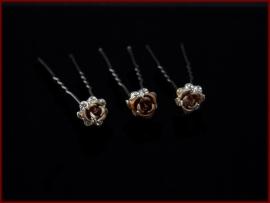 Haarpin roosje - Bruin (420)