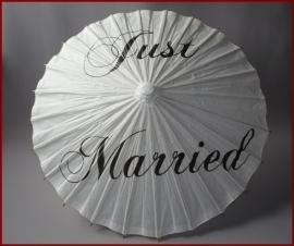 Bruidsparaplu Just Married (59)