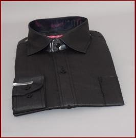 Jongens overhemd Zwart glans (258)