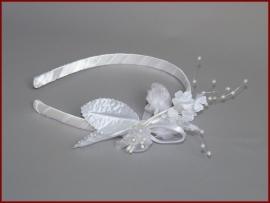 Haarband wit en Ivoor (404)