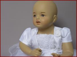 Bolero Ymke - baby korte mouw - Ivoor (03)