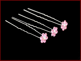 Haarpin strass roze (497)