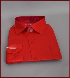 Jongens overhemd Helder Rood glans (259)