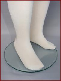 Panty met glans Ivoor en Wit. Maat 98 t/m 176 (50)