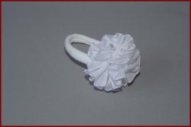 Haarelastiek - witte bloem (447)