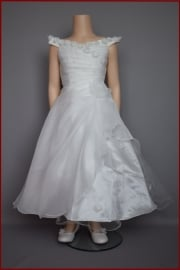 Bruidsmeisjes / communie jurk Roos  maten 86 t/m 164 (A100)