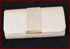 Bruidstasje / Avondtasje / Clutch  goud/strass (756)