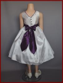 Bruidsmeisjes jurk Maat 86 t/m 152 Purple (A121)
