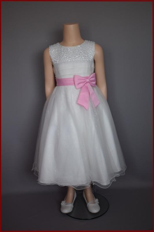 Bruidsmeisje / communie jurk  ivoor Hind Maat 62 t/m 152 (198)
