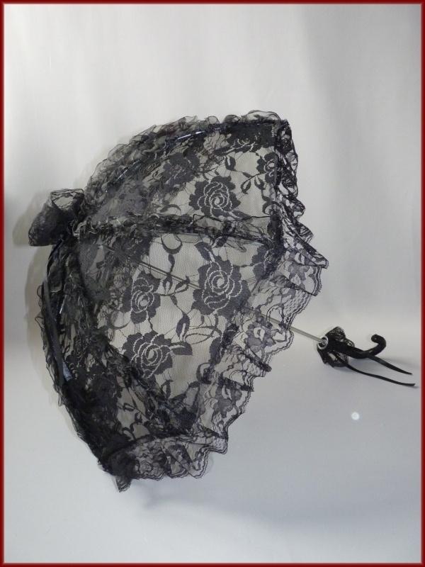 Bruidsparasol kant zwart (59)