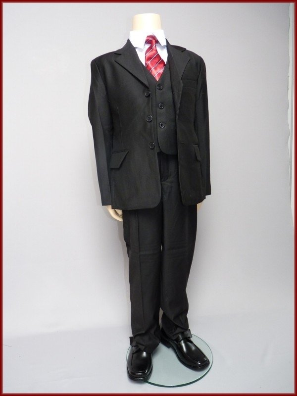 Bruidsjonker  Kostuum  Zwart 5-delig Sem Maat 80 t/m 140 (203)