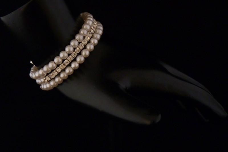Armband parel en Strass (27)