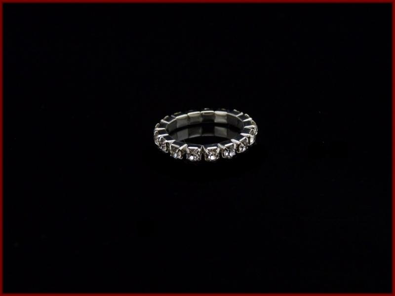 Elastische ring met strass steentjes (807)