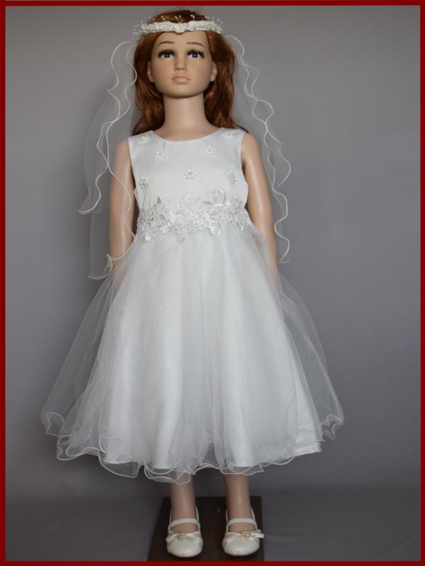 Bruidsmeisjesjurk/Communiejurk  Daisy Maat 92 t/m 152 (1133)